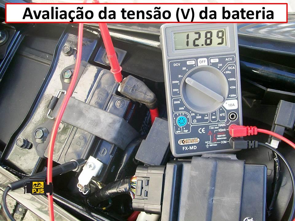 Aval. tensao da bateria