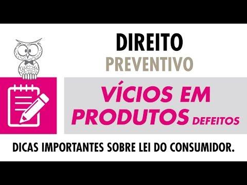 CONSELHO JURÍDICO - Vícios em Produtos (Defeitos)
